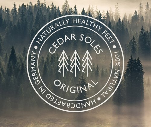 Zederna Cedar Wood Shoe Insoles 100 Natural