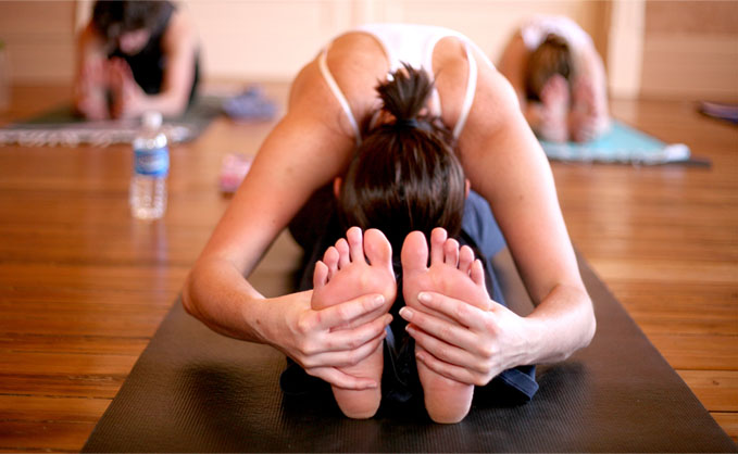 Healthy yoga feet
