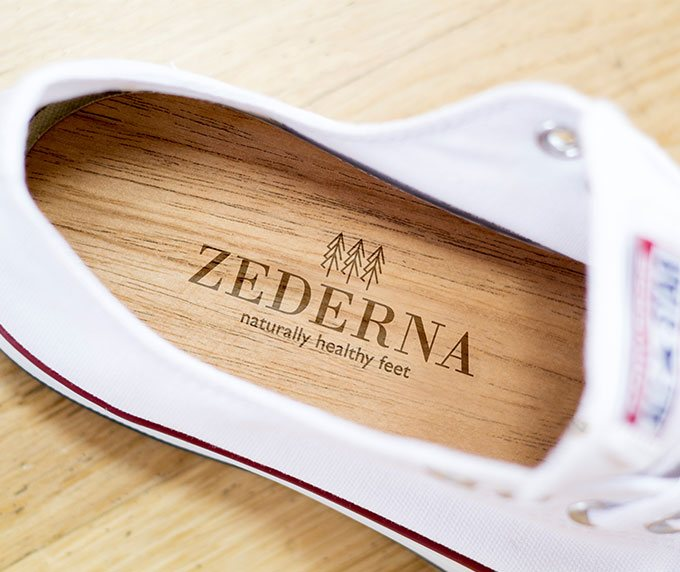 Zederna Cedar Wood Shoe Insoles 100 Natural