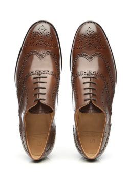 classic oxford full brogue shoes